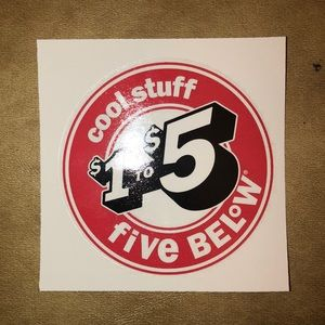 FIVE BEL°W STICKER
